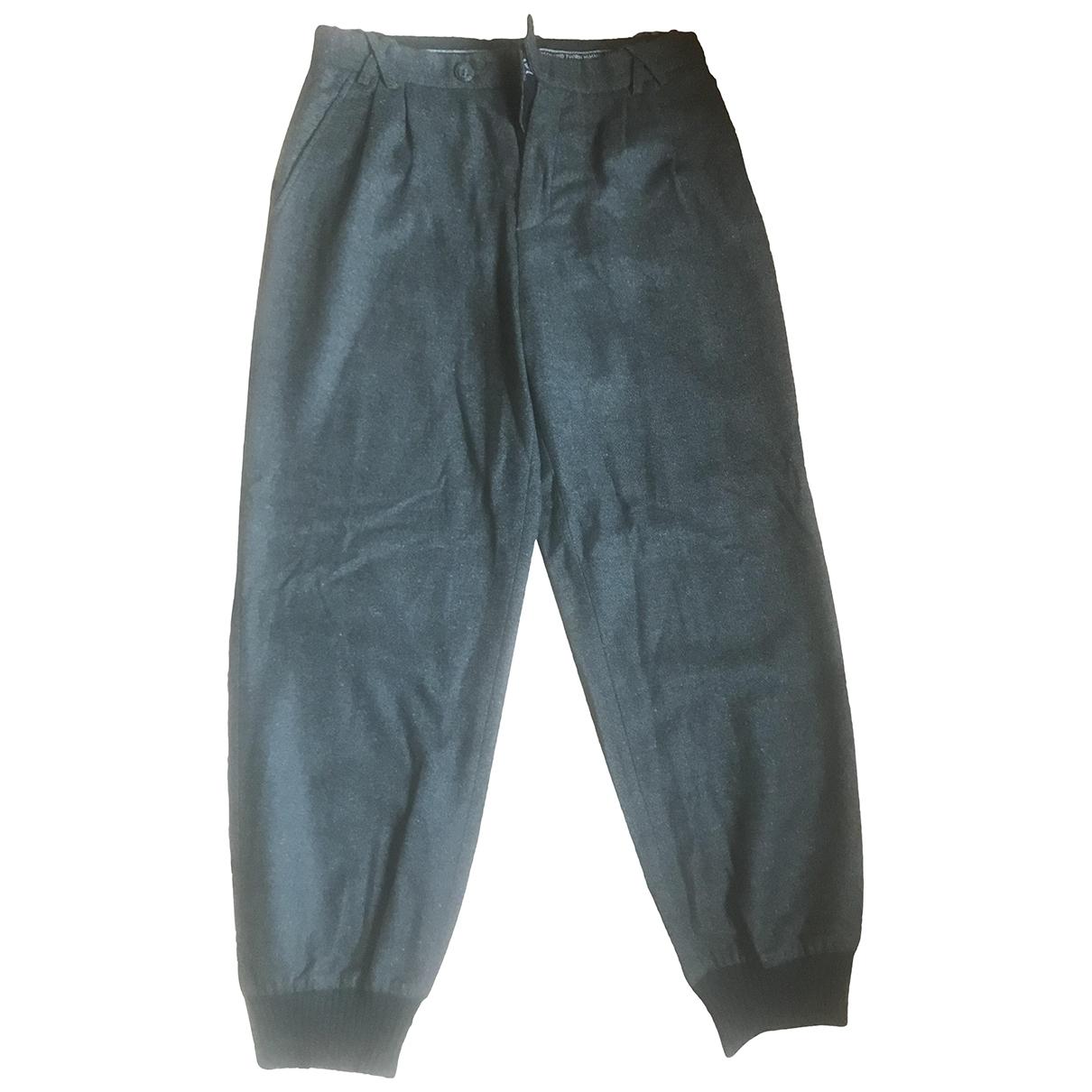 Bernhard Willhelm \N Anthracite Wool Trousers for Men 50 IT