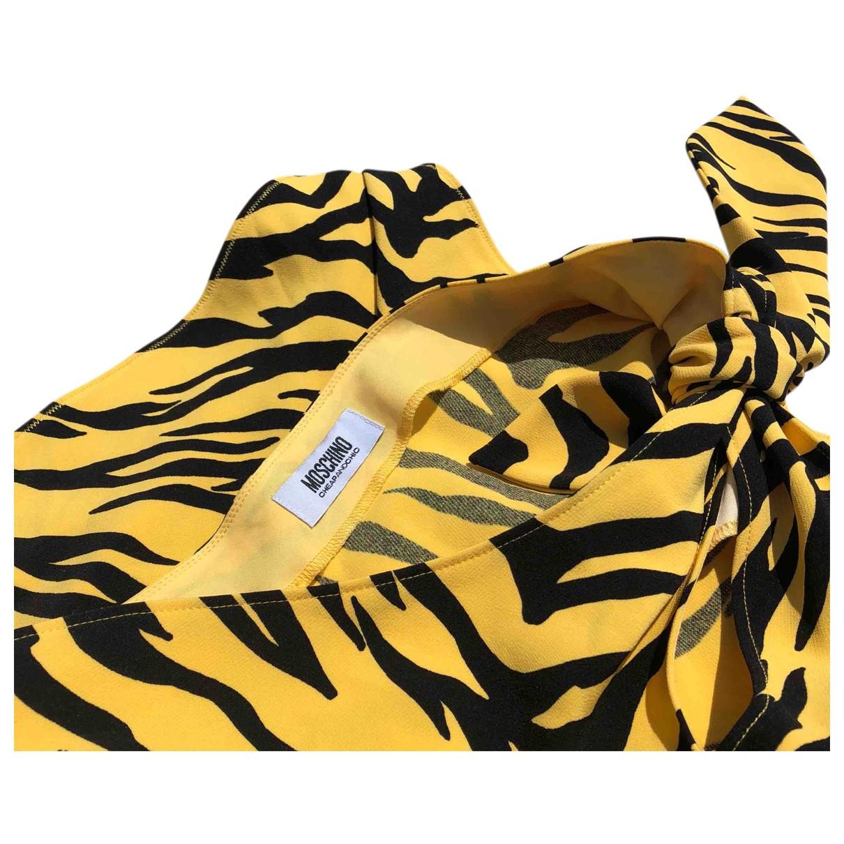 Moschino - Top   pour femme - jaune