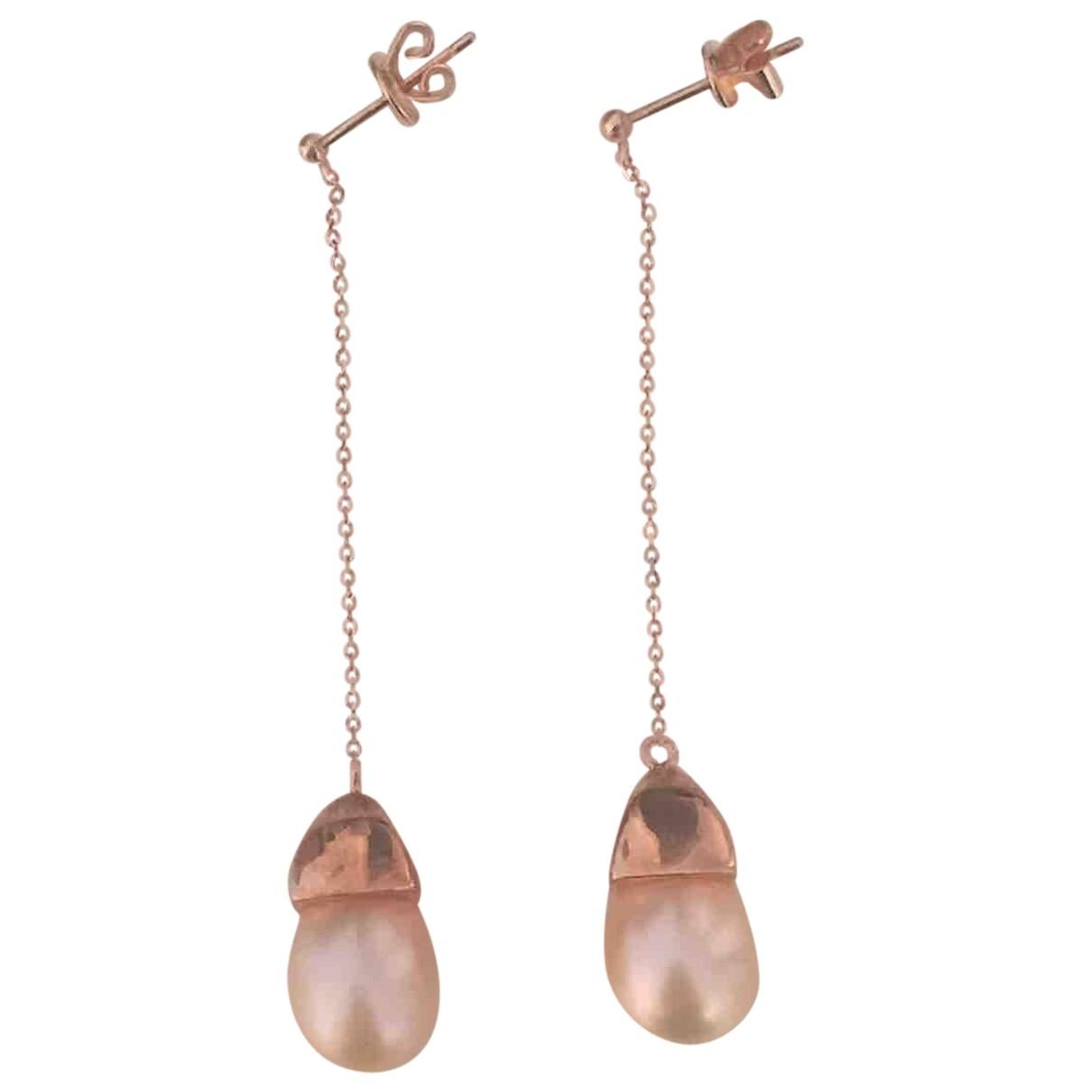 - Boucles d'oreilles   pour femme en or rose - rose