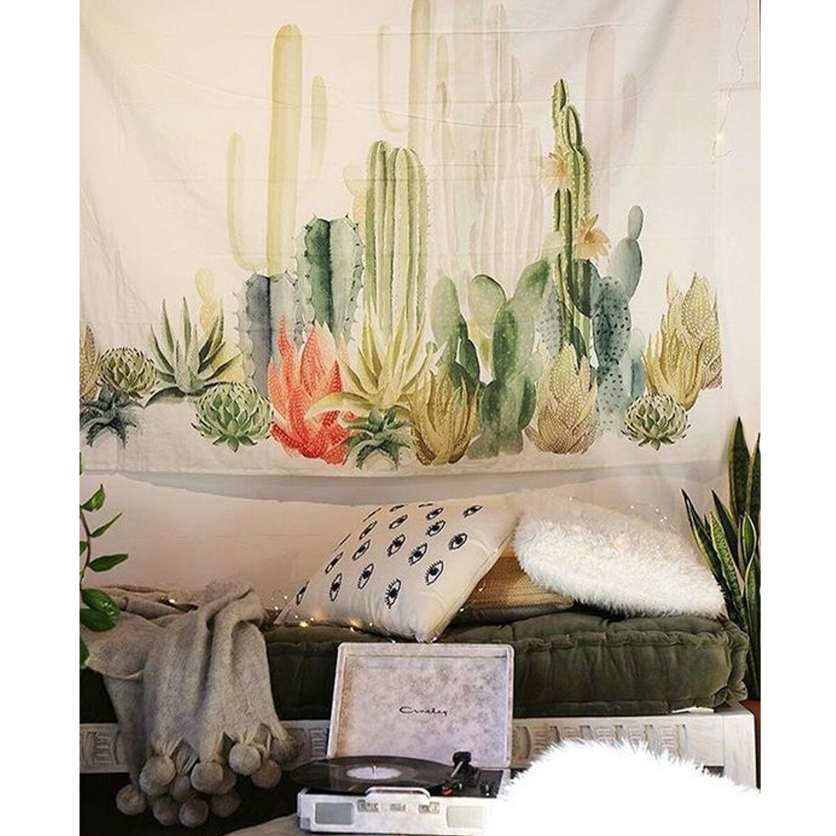 Polyester Tapestry Wall Hangings Cactus Home Decor Creative Beach Towel Cloth