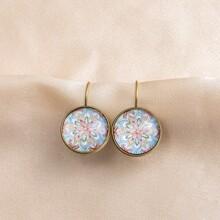 Ohrringe mit Mandala Muster
