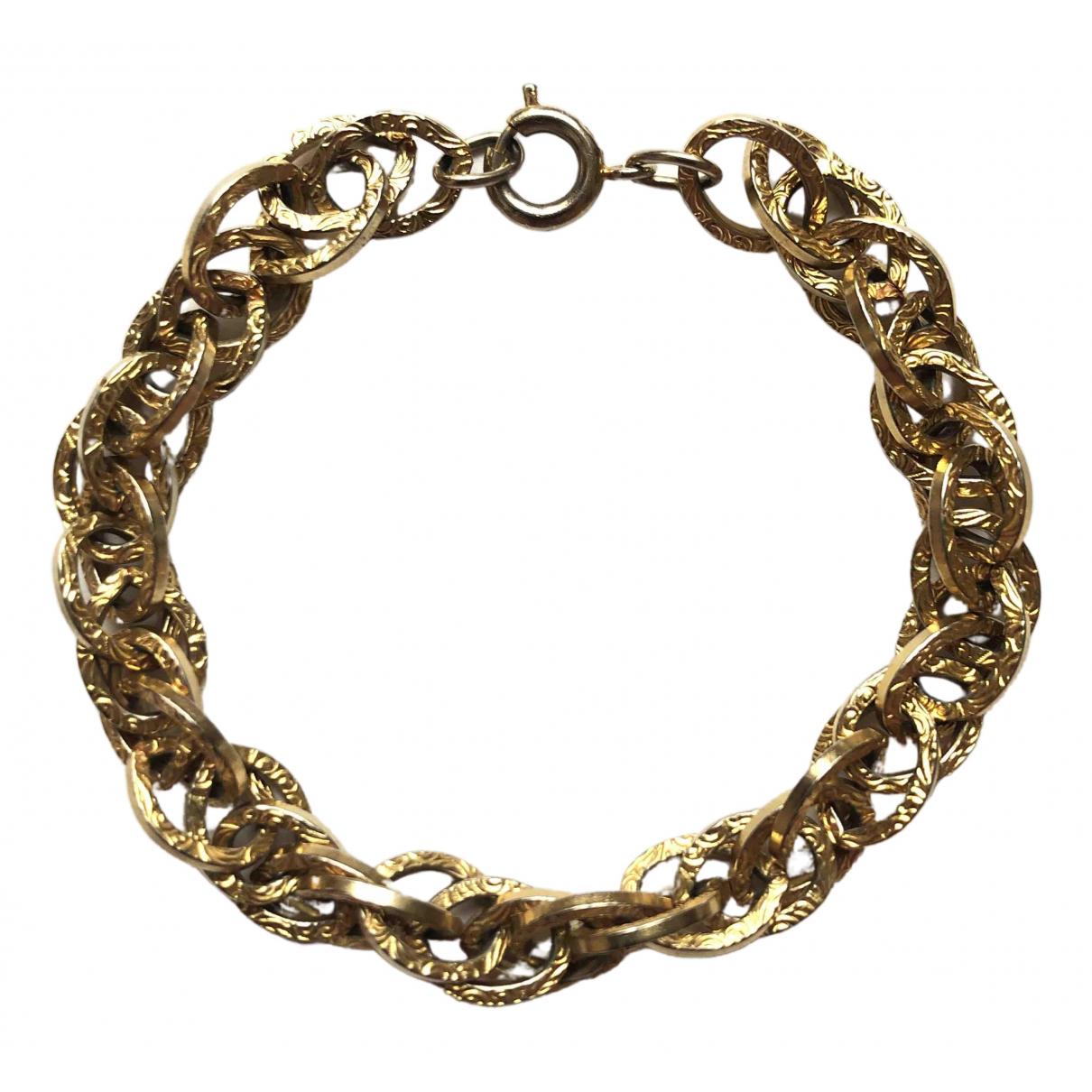 - Bracelet  Maille Americaine pour femme en metal - dore