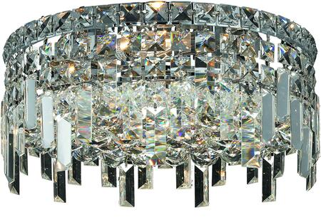 V2031F14C/RC 2031 Maxime Collection Flush Mount D:14In H:7In Lt:4 Chrome Finish (Royal Cut