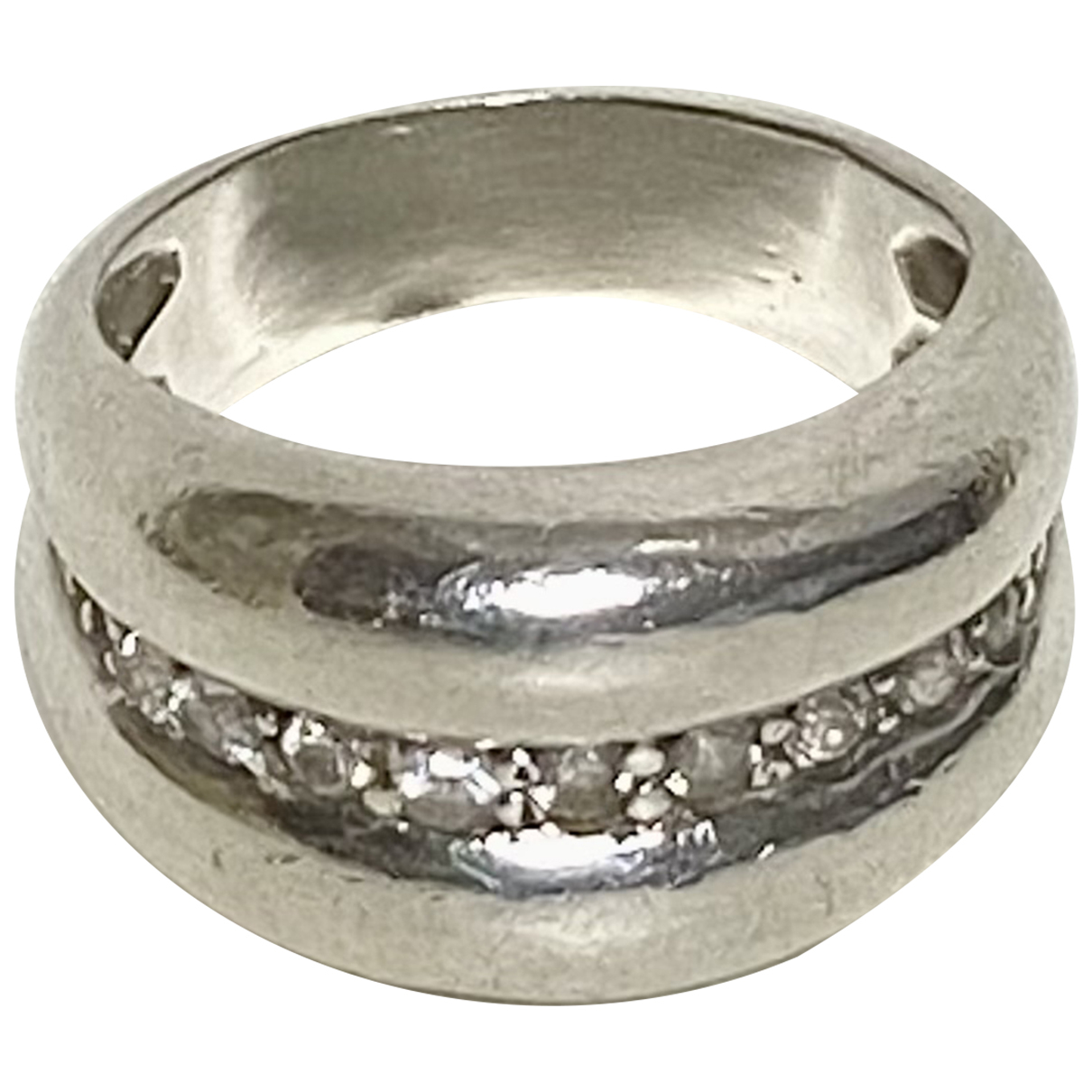 Non Signe / Unsigned Bagues Cocktails Ring in  Silber Silber
