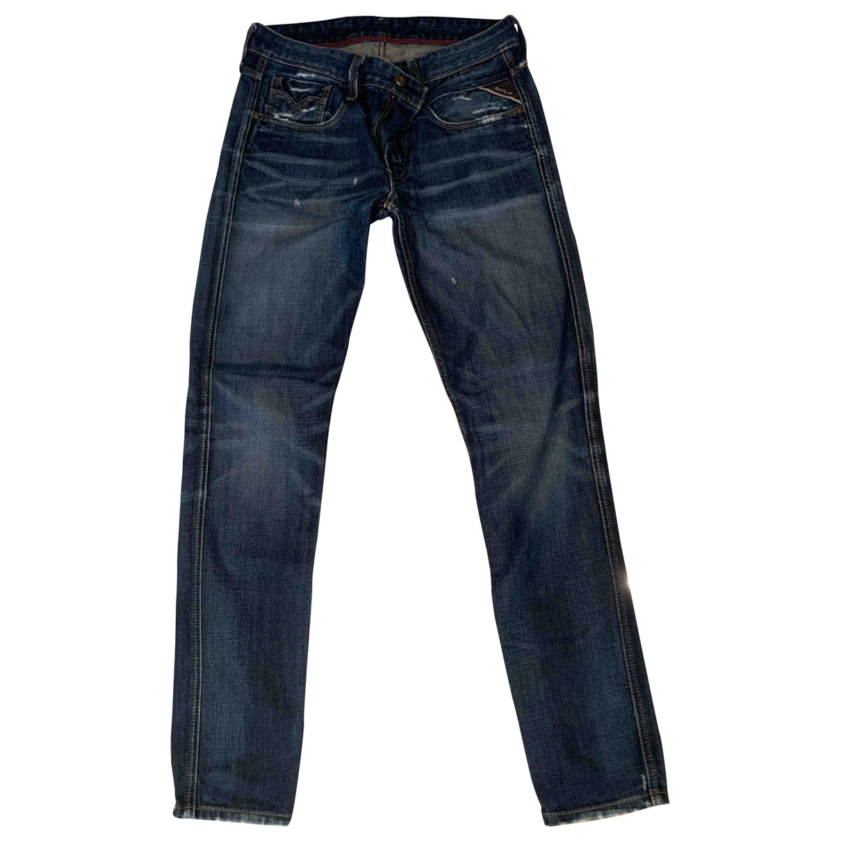 Replay \N Blue Cotton Jeans for Men 31 US