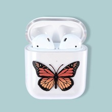 Klare AirPods-Huelle mit Schmetterlingsdruck