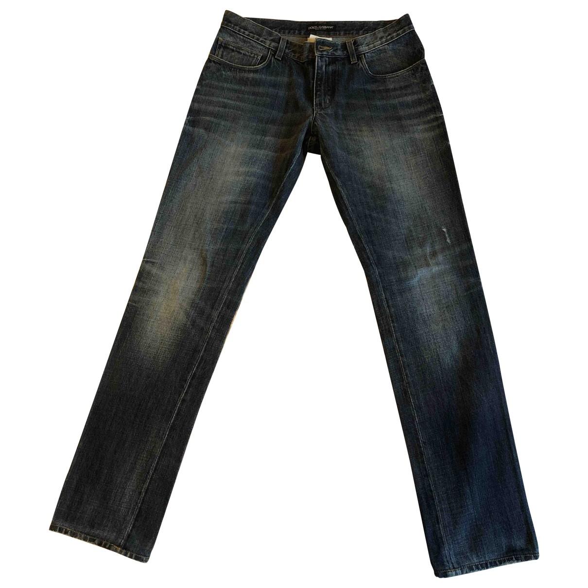 Dolce & Gabbana \N Blue Cotton Jeans for Men 40 FR