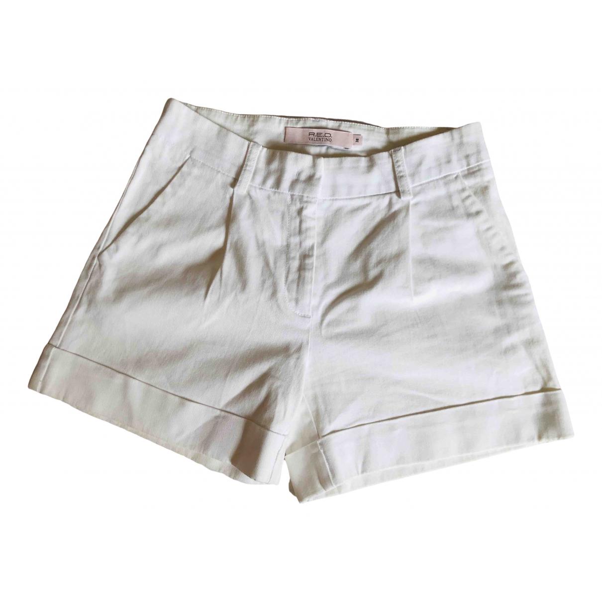 Red Valentino Garavani \N Shorts in  Weiss Baumwolle