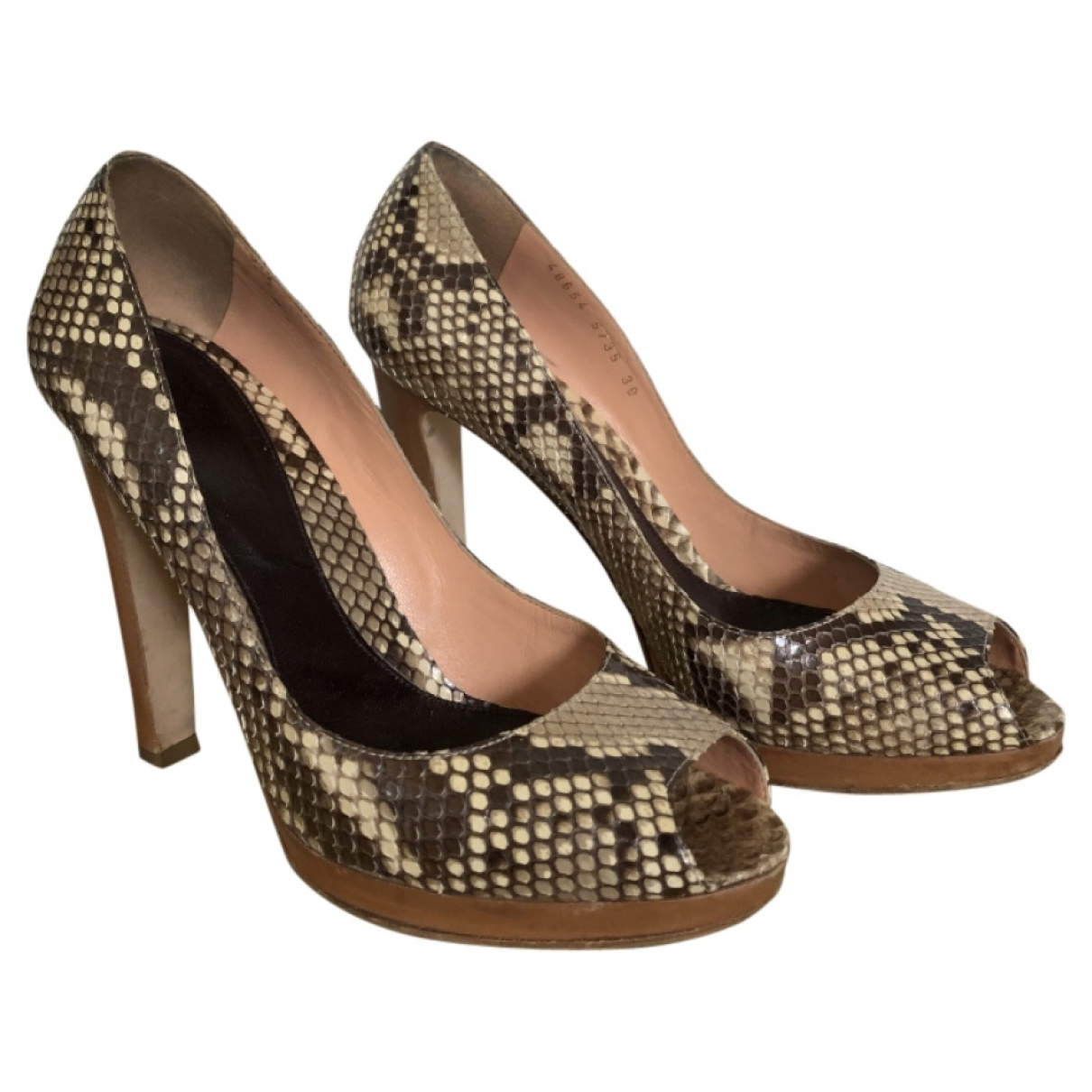 Sergio Rossi \N Python Heels for Women 39 EU