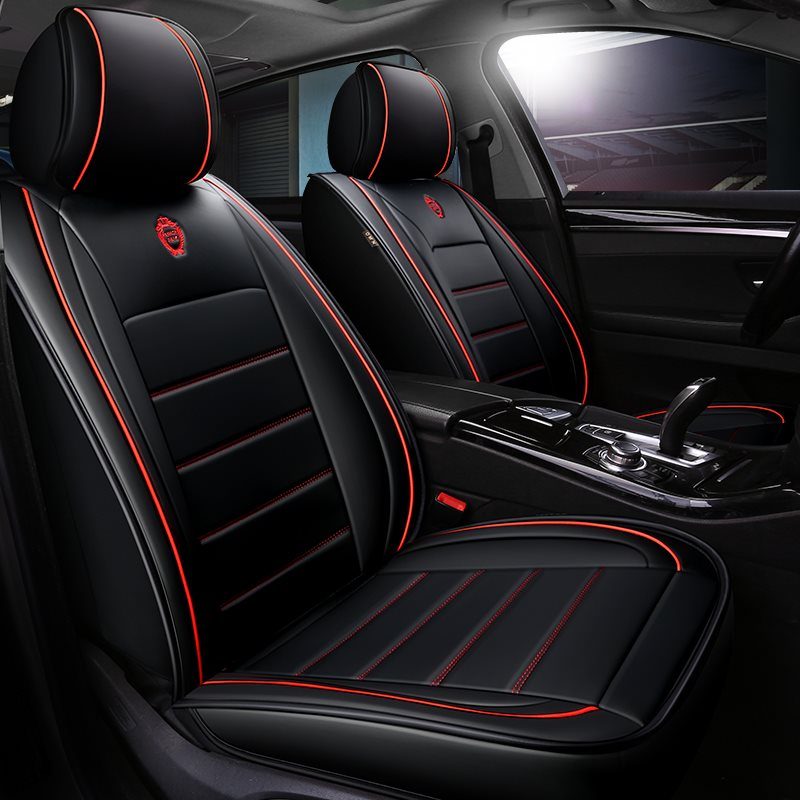 Sport Style Full Coverage Waist Protection Design 5-Seater Wear-Resistant Durable Airbag Compatible Leopard Pattern Universal Fit Seat Cover