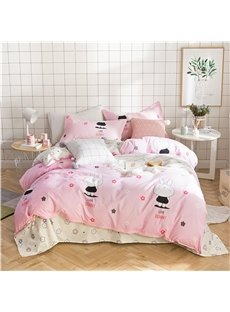 Bugs Bunny And Little Petal Printed 4-Piece Bedding Sets/Duvet Covers