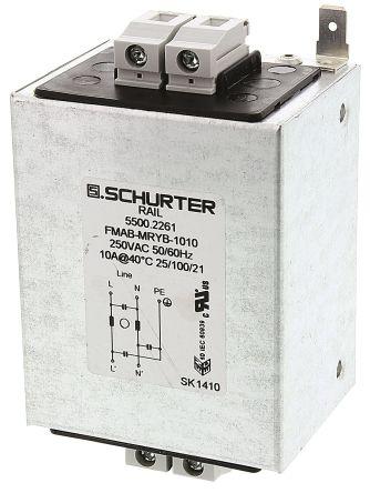 Schurter , FMAC RAIL 1A 250 V ac 50 → 60Hz, DIN Rail RFI Filter, Screw