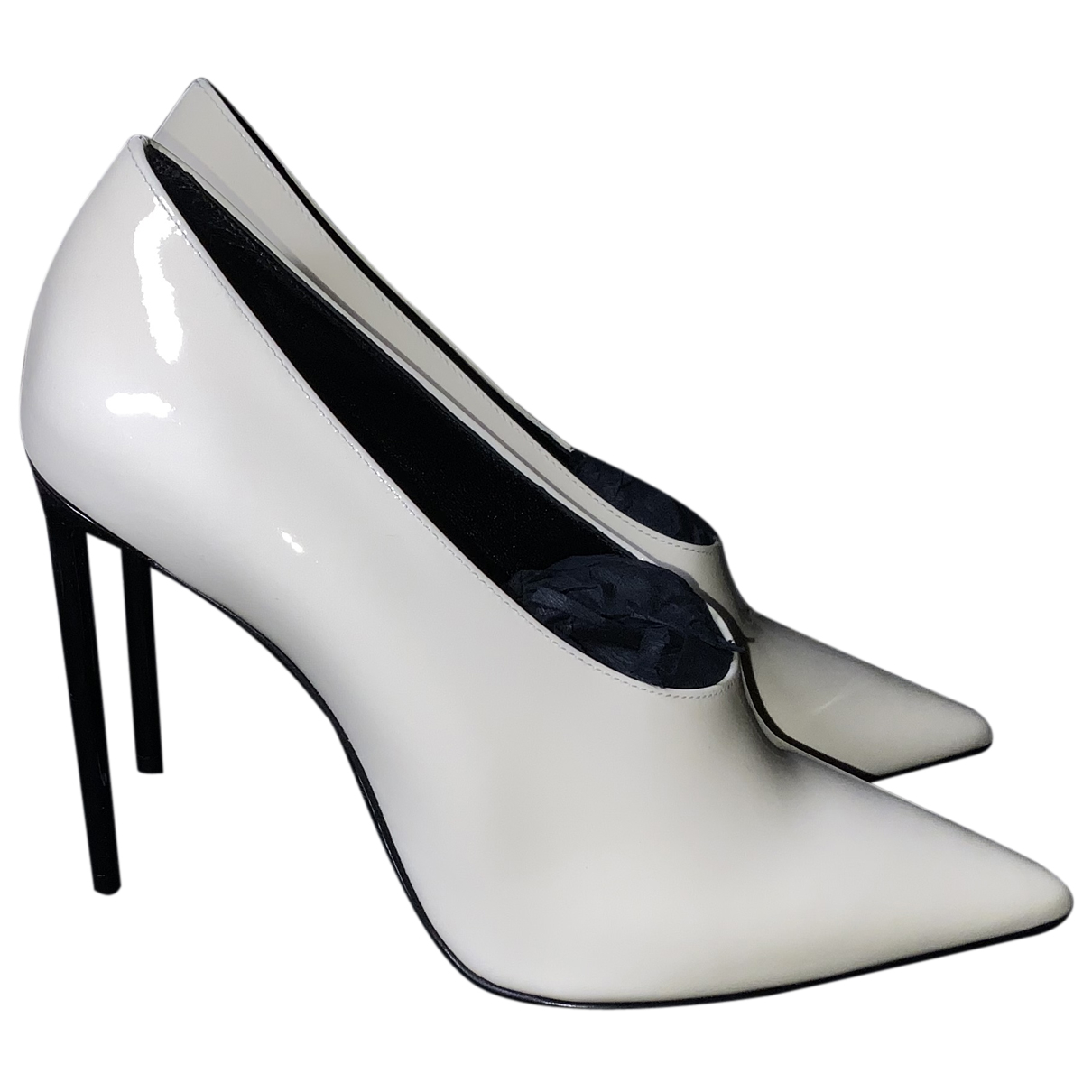 Saint Laurent N White Patent leather Heels for Women 36 IT