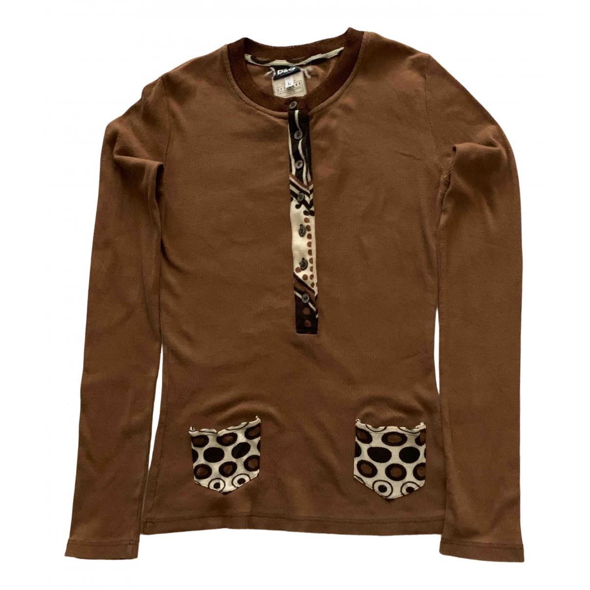 D&g - Top   pour femme en coton - marron