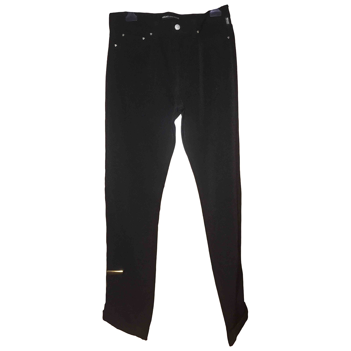 Versace Jeans \N Black Spandex Trousers for Men 48 IT