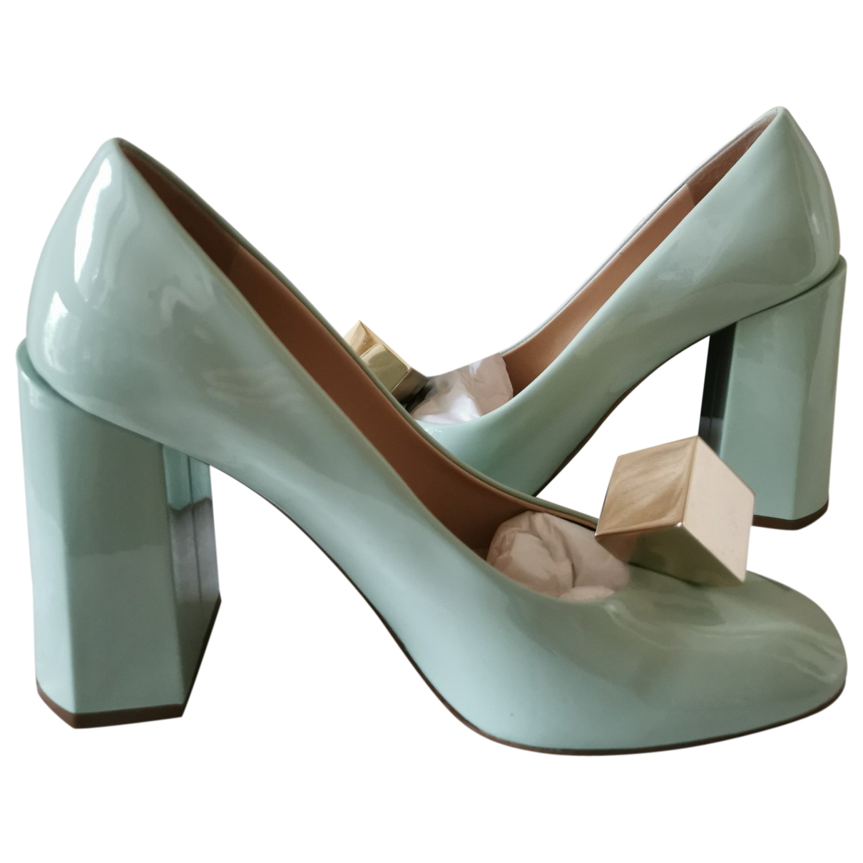 Mulberry \N Turquoise Patent leather Heels for Women 38 EU