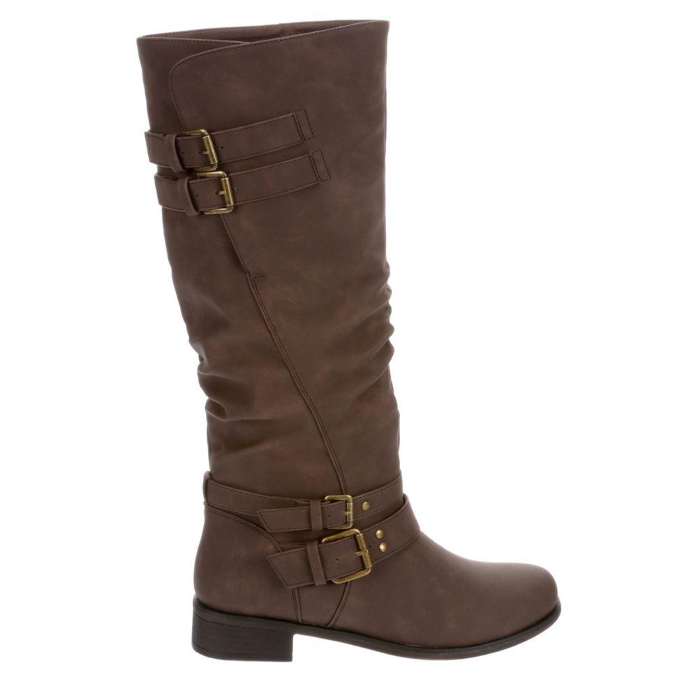 XOXO Womens Malden Wide Calf Riding Boot