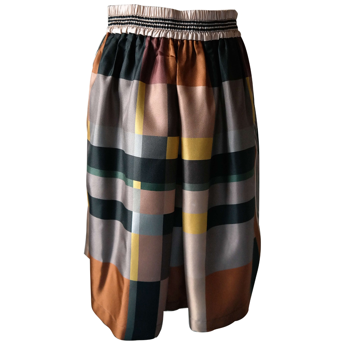 Max Mara Studio \N Multicolour Silk skirt for Women 38 IT