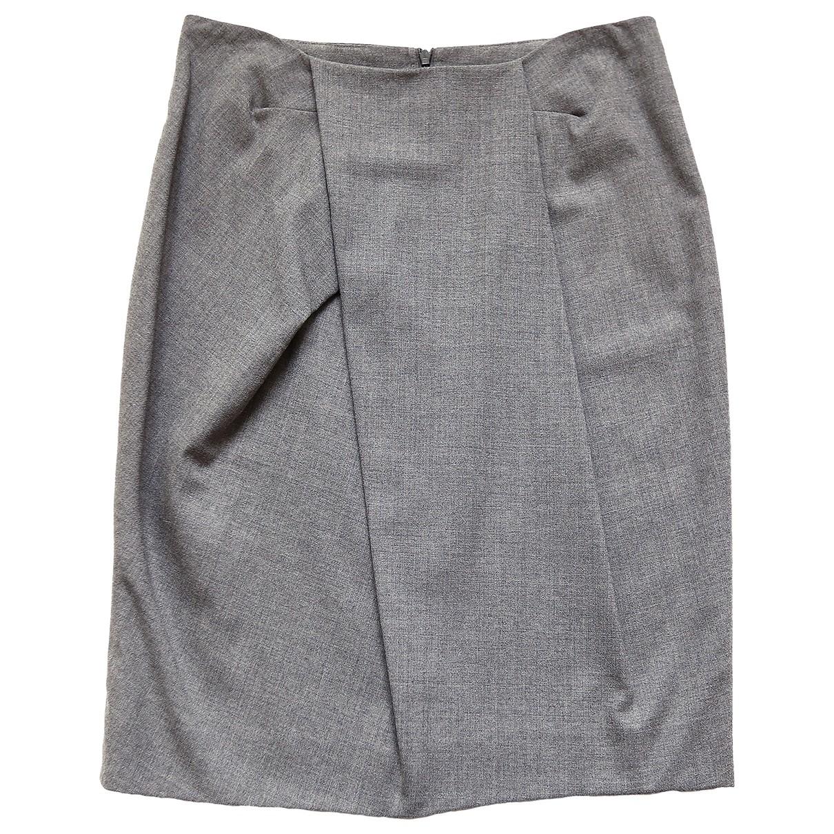 Boss \N Grey Wool skirt for Women 40 IT