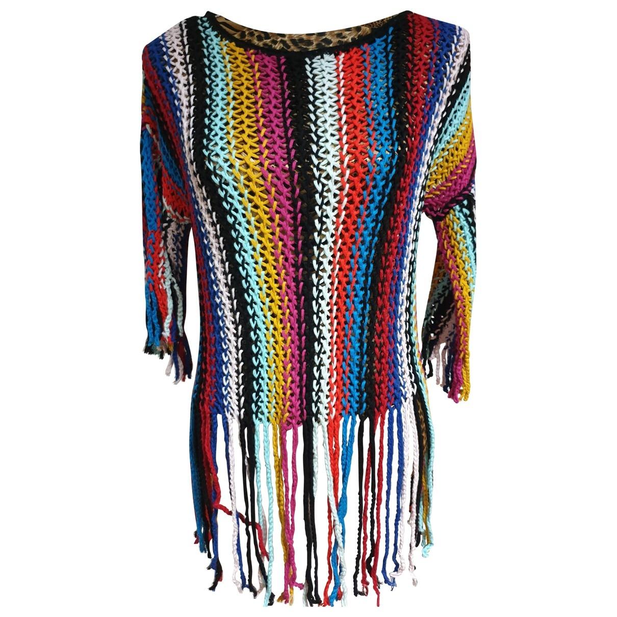 Trussardi Jean - Pull   pour femme en coton - multicolore