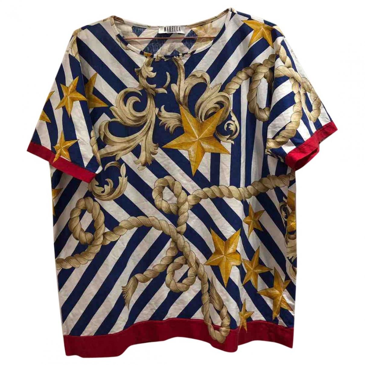 Marella - Top   pour femme en coton - multicolore