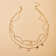 Butterfly Charm Layered Waist Chain