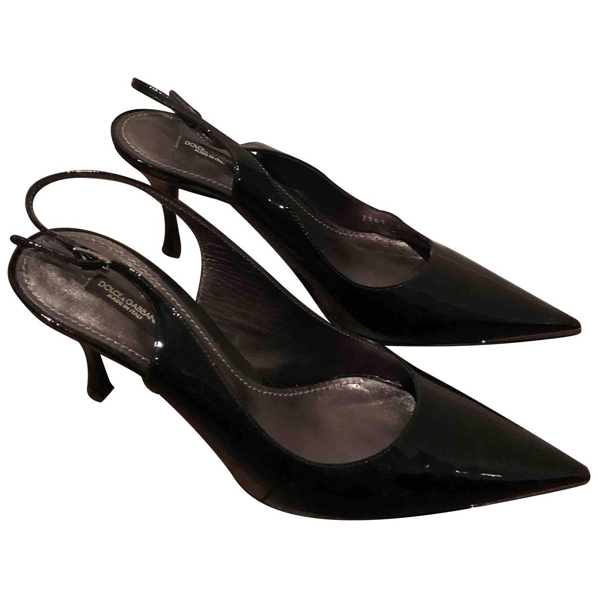 Dolce & Gabbana \N Black Patent leather Heels for Women 39.5 EU