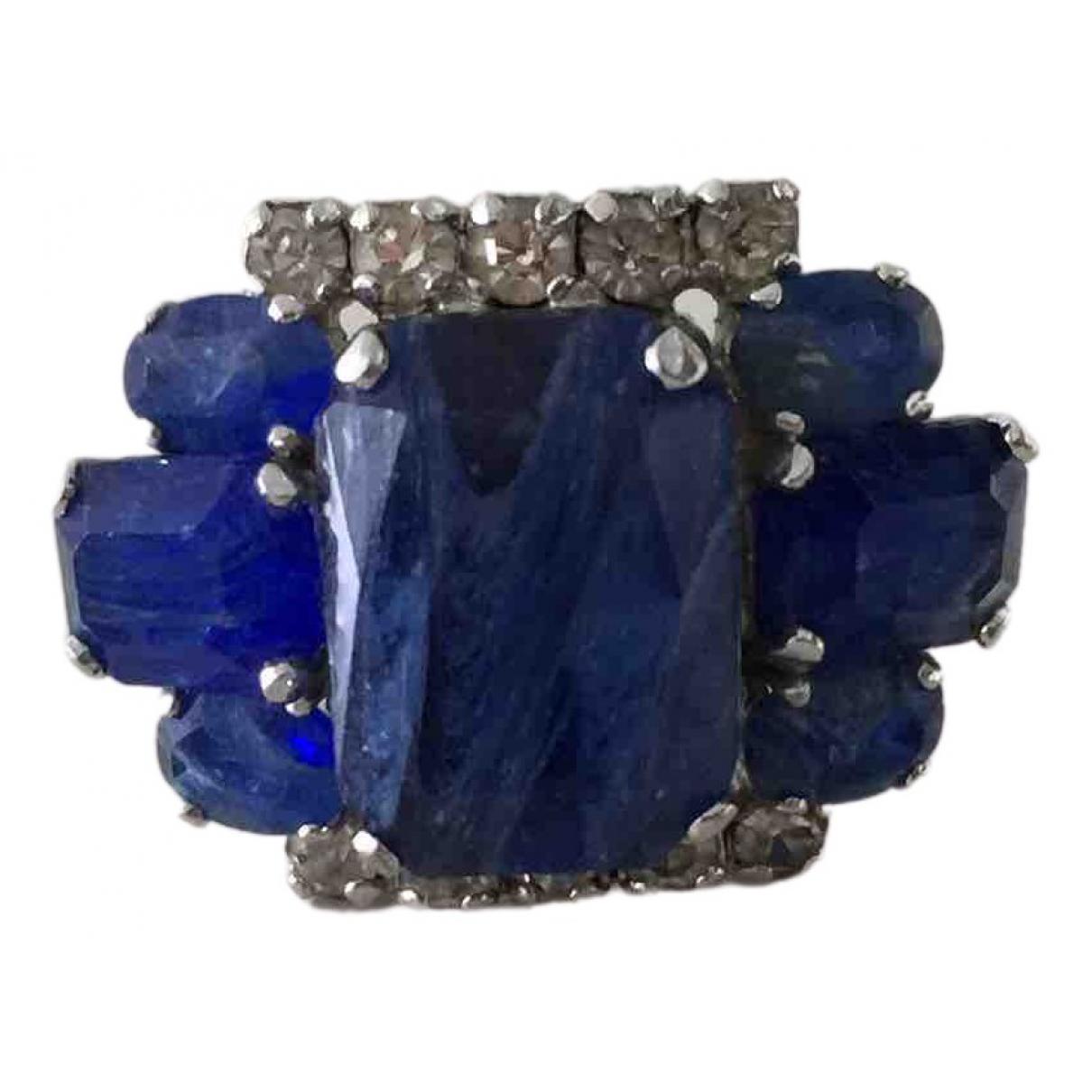 Dior \N Ring in  Blau Metall