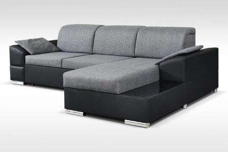Marcel Collection MARCELLEFTGRAY Sectional Sofa in Gray