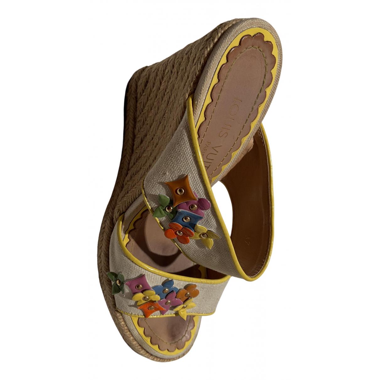 Sandalias romanas de Lona Louis Vuitton