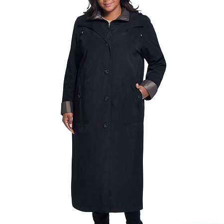 Miss Gallery Midweight Raincoat-Plus, 3x , Black