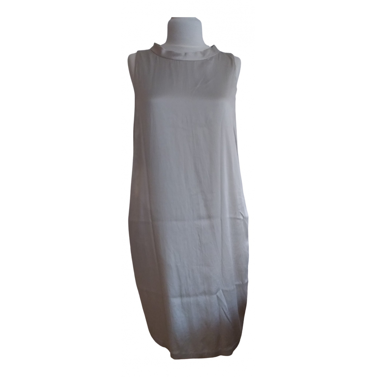 Max Mara 's \N Ecru Silk dress for Women 46 IT