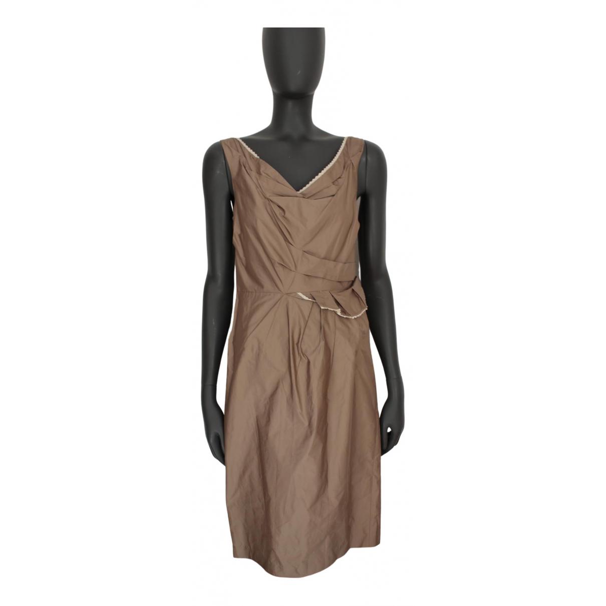 Hoss Intropia \N Kleid in  Braun Polyester