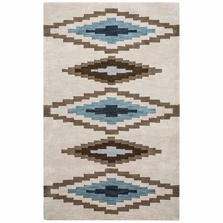 Rizzy Home Tumble Weed Loft Collection Elliana Diamond Rectangular Rugs, One Size , Beige