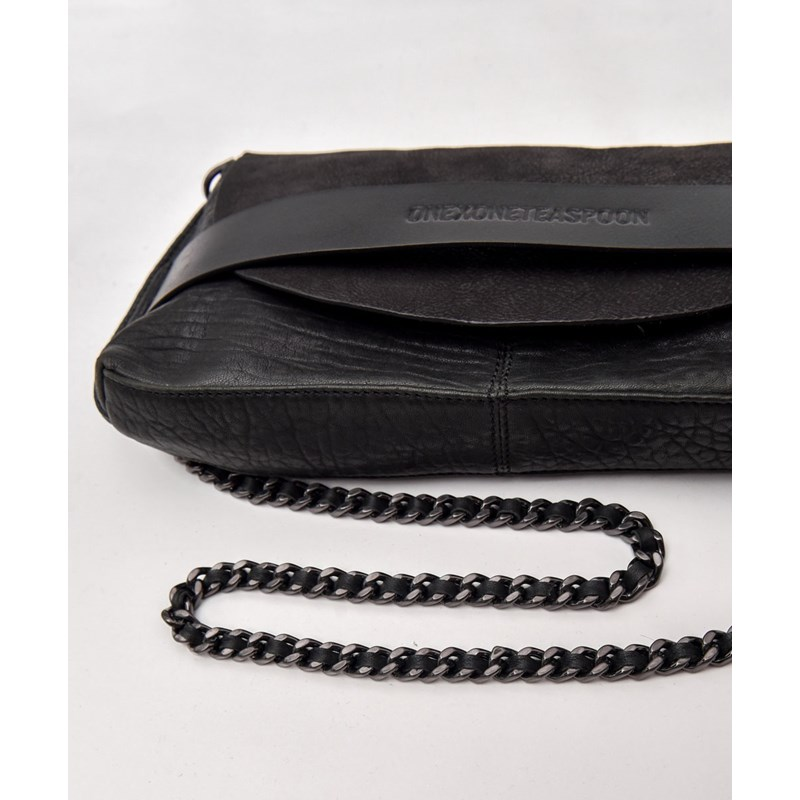 SUPERIOR LEATHER CHAIN MAIL CLUTCH
