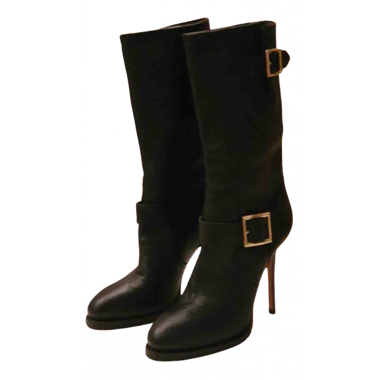 Jimmy Choo \N Black Leather Boots for Women 39 EU