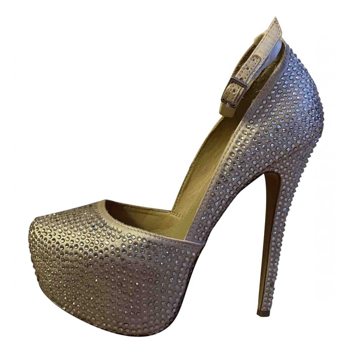 Steve Madden \N Gold Leather Heels for Women 36 EU