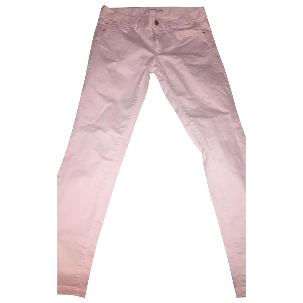 Massimo Dutti - Pantalon   pour femme en coton - blanc