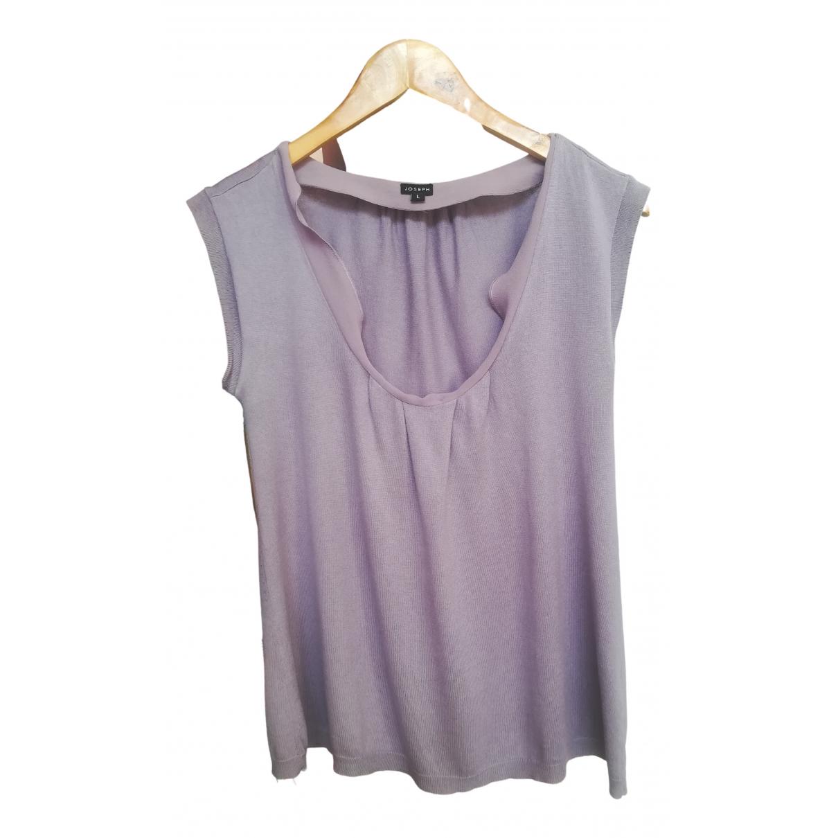 Joseph - Top   pour femme en soie - violet