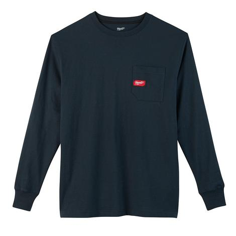 Milwaukee Heavy Duty Pocket T-Shirt - Long Sleeve - Blue 3X