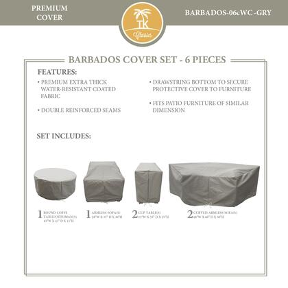 BARBADOS-06cWC-GRY Protective Cover Set  for BARBADOS-06c in