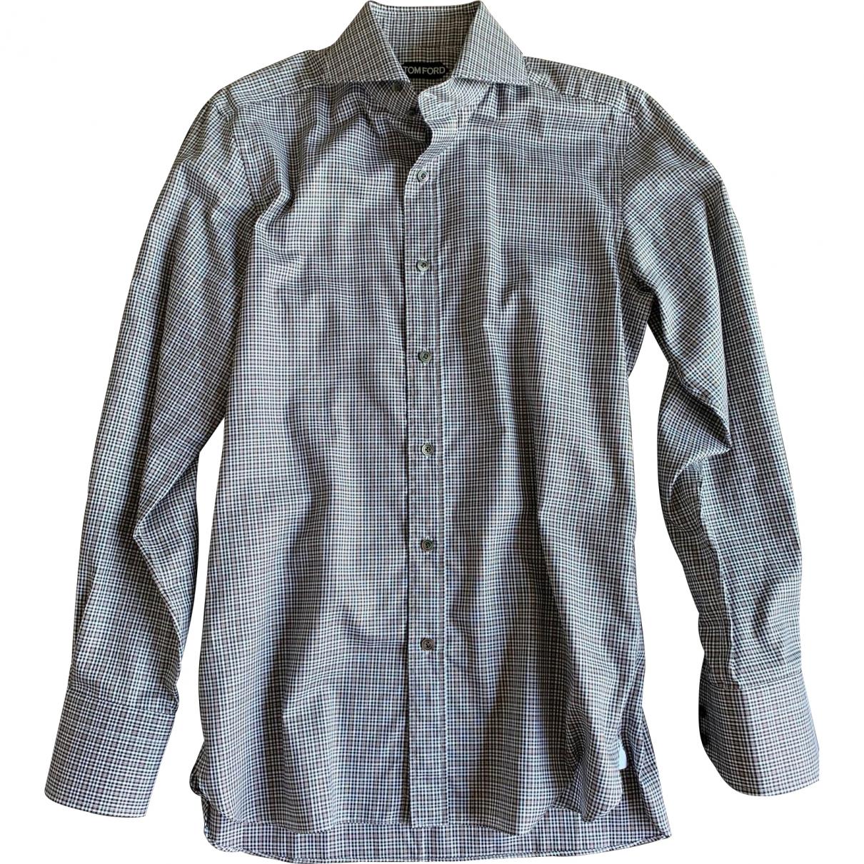 Tom Ford \N Multicolour Cotton Shirts for Men 40 EU (tour de cou / collar)