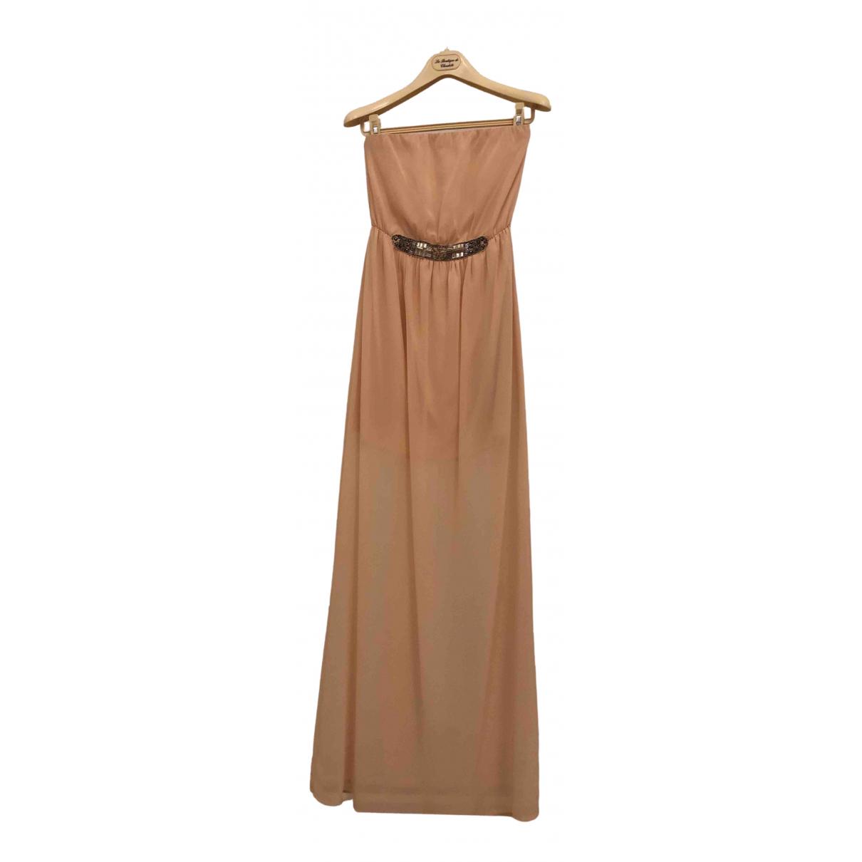 Zara \N Kleid in  Beige Spitze
