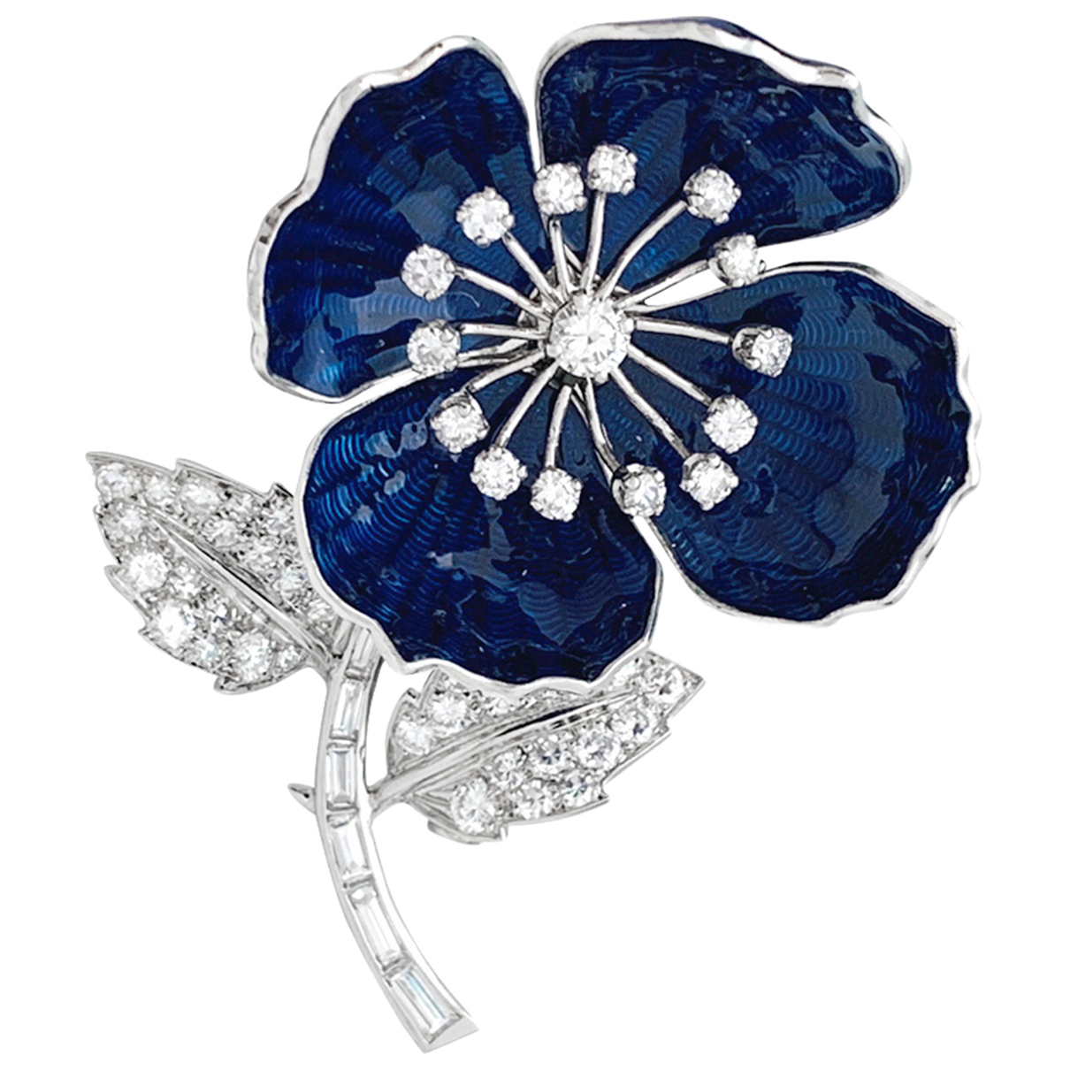 Boucheron \N Navy Platinum Pins & brooches for Women \N