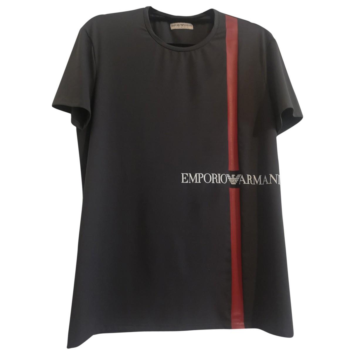 Emporio Armani \N T-Shirts in  Grau Polyester