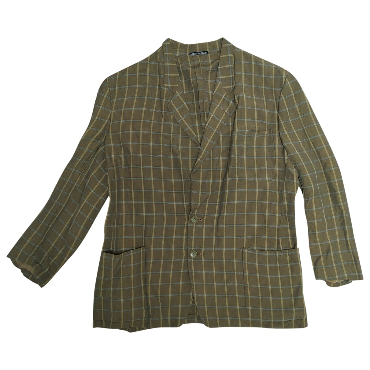 Emporio Armani \N Beige Linen jacket  for Men 50 IT