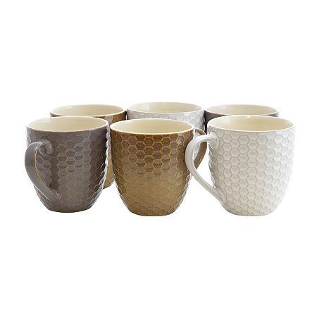 Elama Honeycomb 6-pc. Coffee Mug, One Size , Multiple Colors