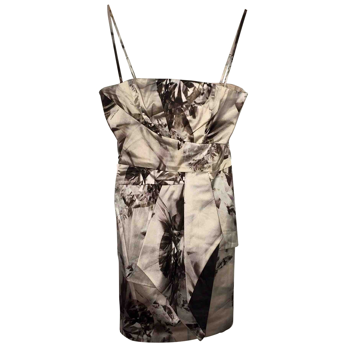 Karen Millen \N Beige Silk dress for Women 42 FR