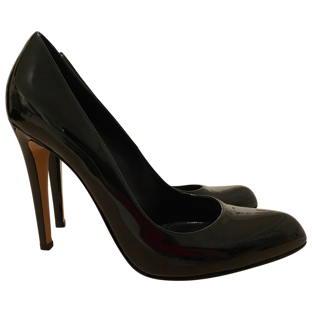 Gianvito Rossi \N Black Patent leather Heels for Women 40 EU