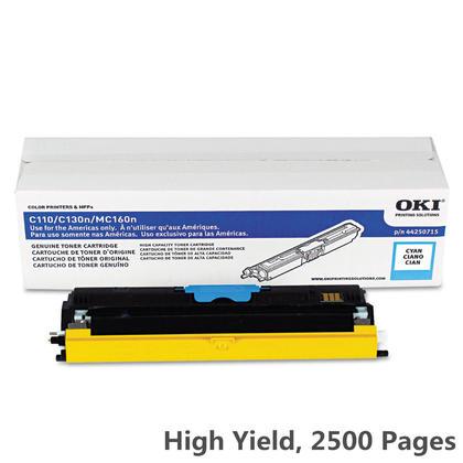 Okidata 44250715 cartouche de toner originale cyan haute capacité